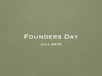 Founders Day Titles